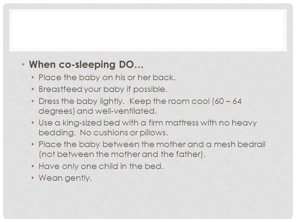 SAFE CRIB SLEEPING GUIDELINES