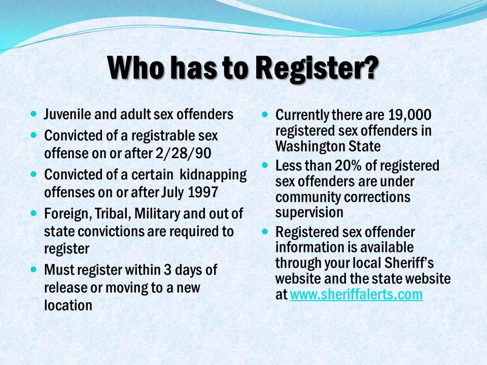 Who has to Register.
