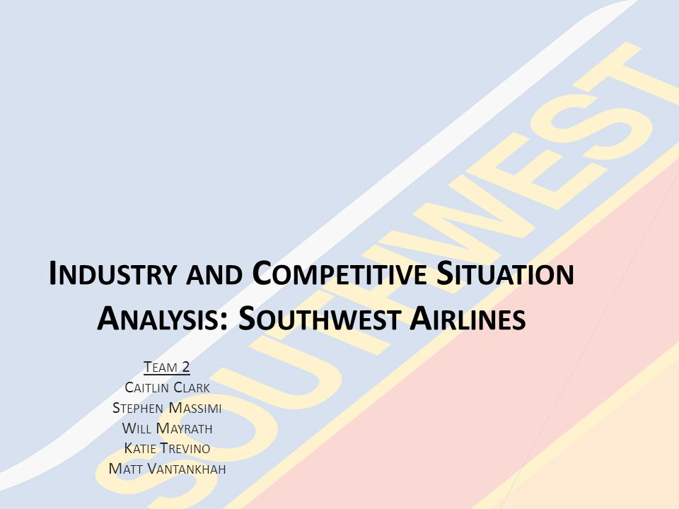 Southwest Airlines Strategy Suggestions, continued Codesharing, continued – Southwest Airlines' History of Codesharing Formerly in a codeshare relationship with ATA Airlines – With ATA Airlines' bankruptcy in 2008, the codeshare relationship was terminated – Southwest Airlines' Current Codeshare Agreements July – November 2009: Southwest Airlines enters into codeshare agreements with WestJet and Volaris – This allows Southwest Airlines to be able to expand services into Canada (through WestJet) and Mexico (through Volaris) Unfortunately, Southwest Airlines postpone these codeshare agreements in May 2009