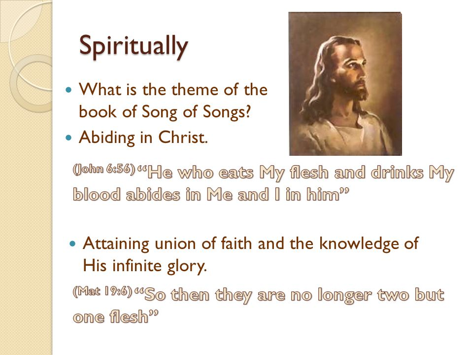 Spiritually What is the theme of the book of Song of Songs.