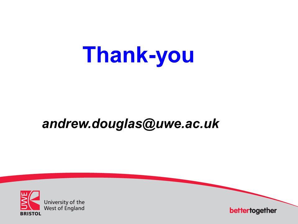 Thank-you andrew.douglas@uwe.ac.uk
