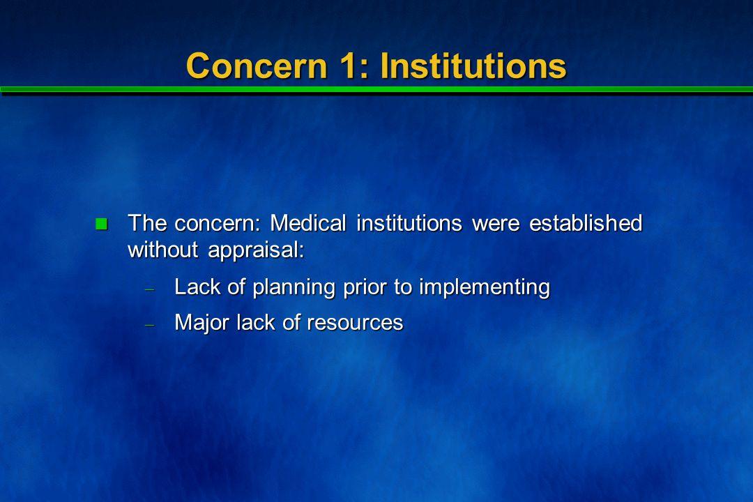 Concern 1: Institutions