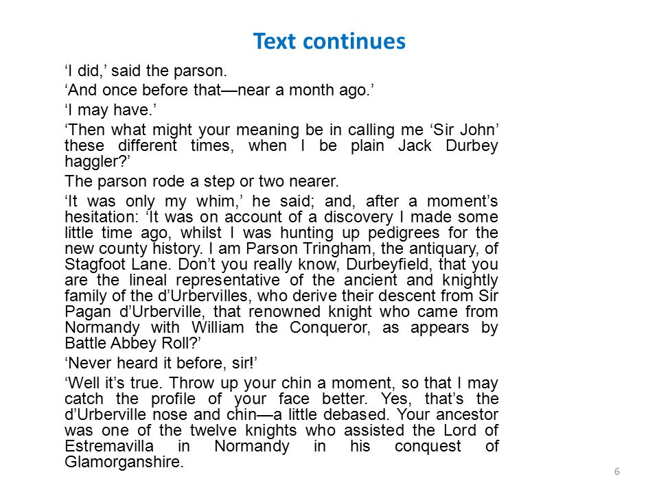 Text continues 'I did,' said the parson. 'And once before that—near a month ago.' 'I may have.' 'Then what might your meaning be in calling me 'Sir Jo