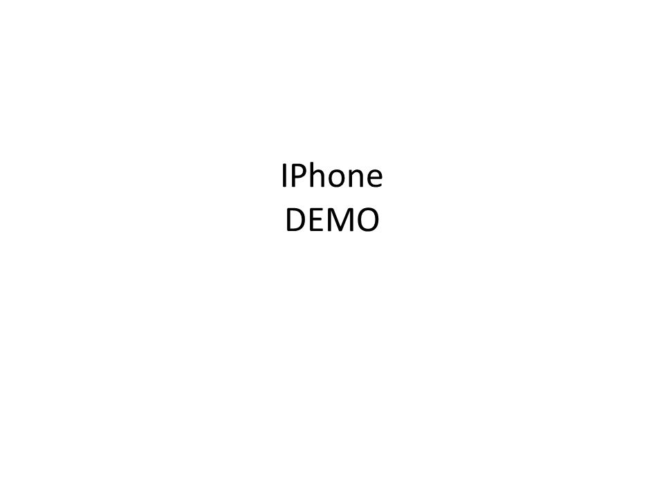 IPhone DEMO