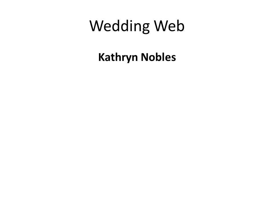 Wedding Web Kathryn Nobles
