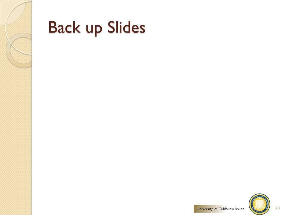 Back up Slides 20 University of California Irvine