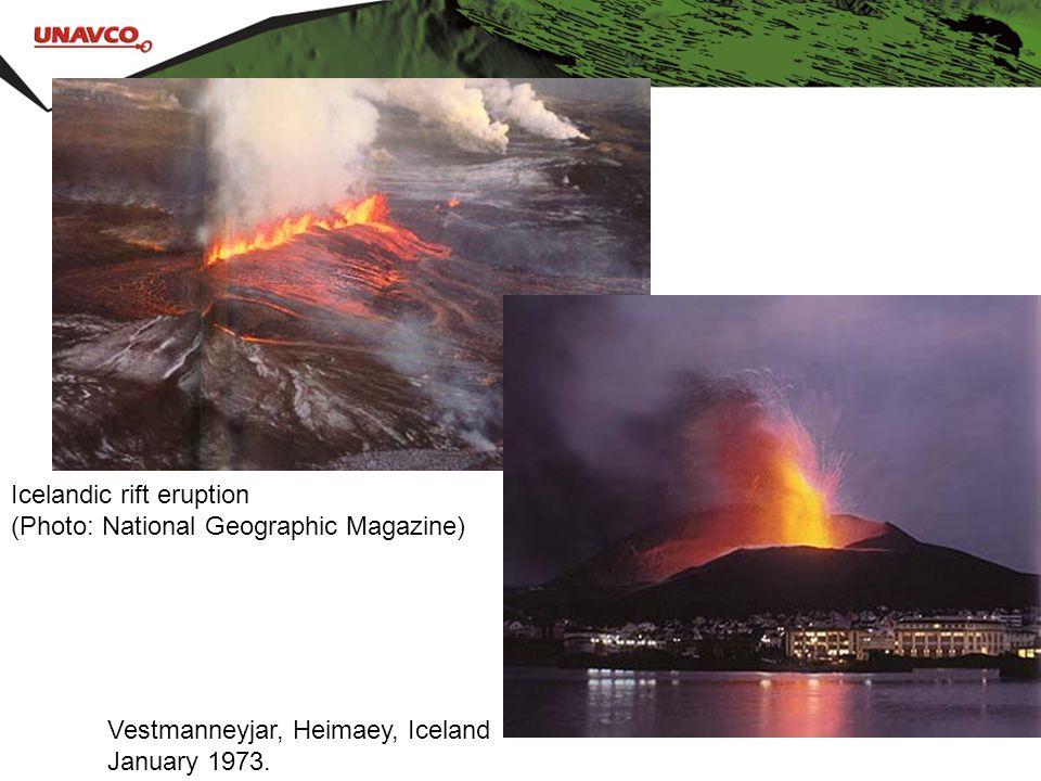 Icelandic rift eruption (Photo: National Geographic Magazine) Vestmanneyjar, Heimaey, Iceland January 1973.