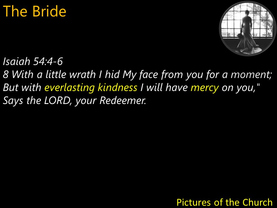 Isaiah 54:4-6 everlasting kindness mercy 8 With a little wrath I hid My face from you for a moment; But with everlasting kindness I will have mercy on you, Says the LORD, your Redeemer.