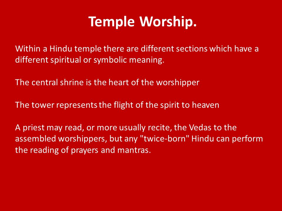 Temple Worship.