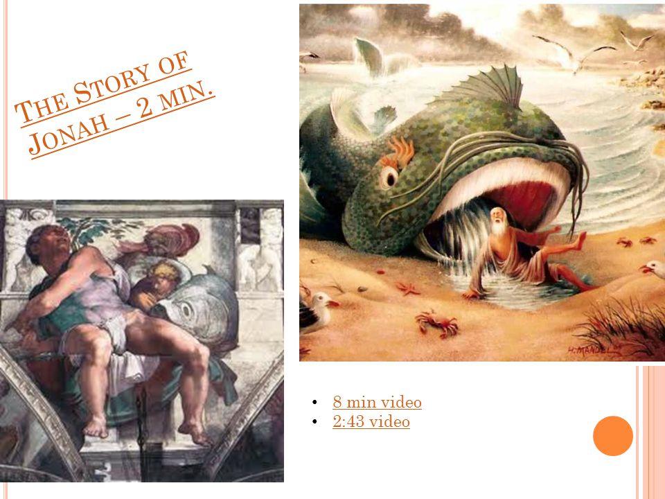 T HE S TORY OF J ONAH – 2 MIN. 8 min video 2:43 video