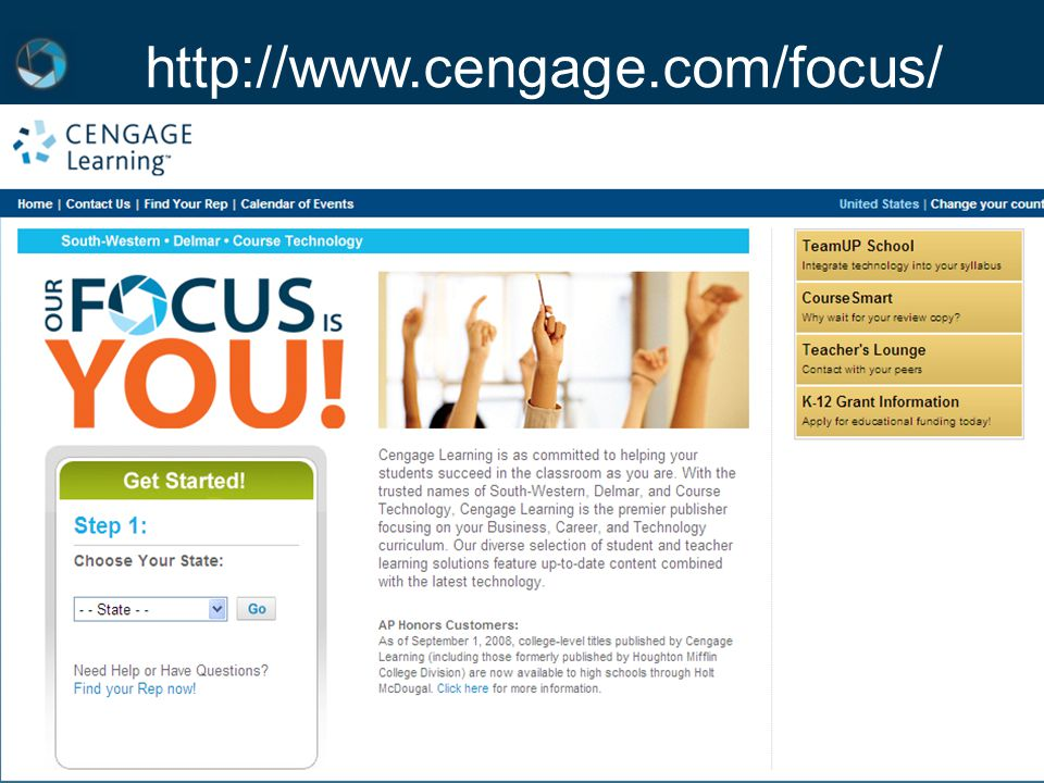 Course Technology ▪ Delmar ▪ South-Western http://www.cengage.com/focus/