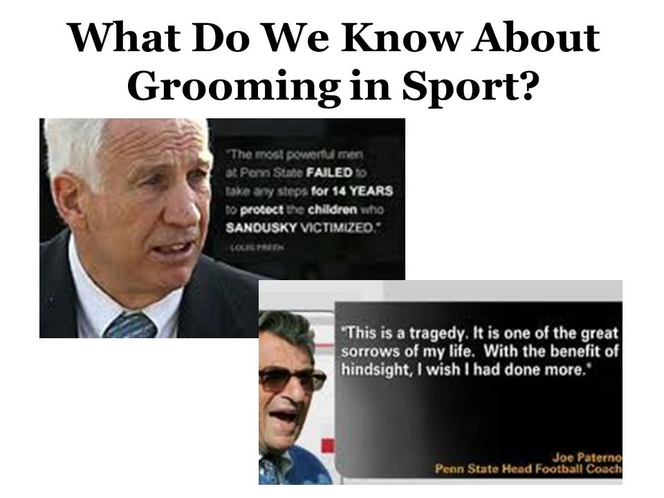 What Do We Know About Grooming in Sport