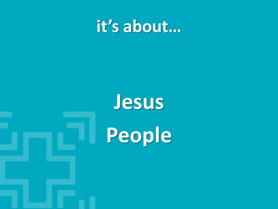 JesusPeople it's about…