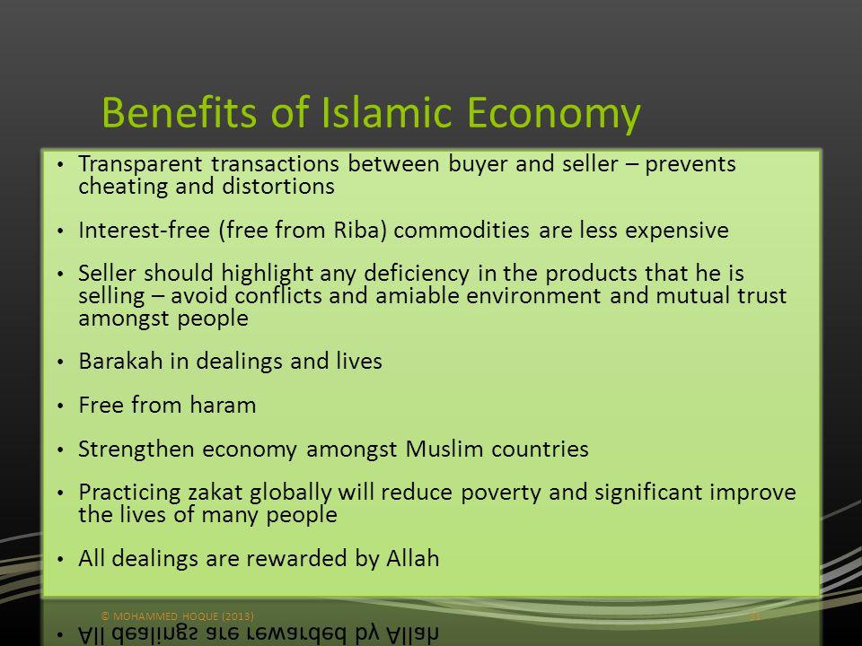 Benefits of Islamic Economy © MOHAMMED HOQUE (2013)31