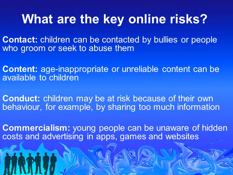 What are the key online risks.