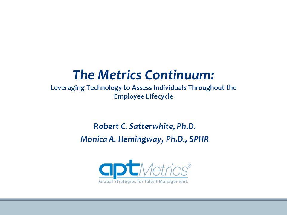 High Potential Identification Case Study: Metrics 31