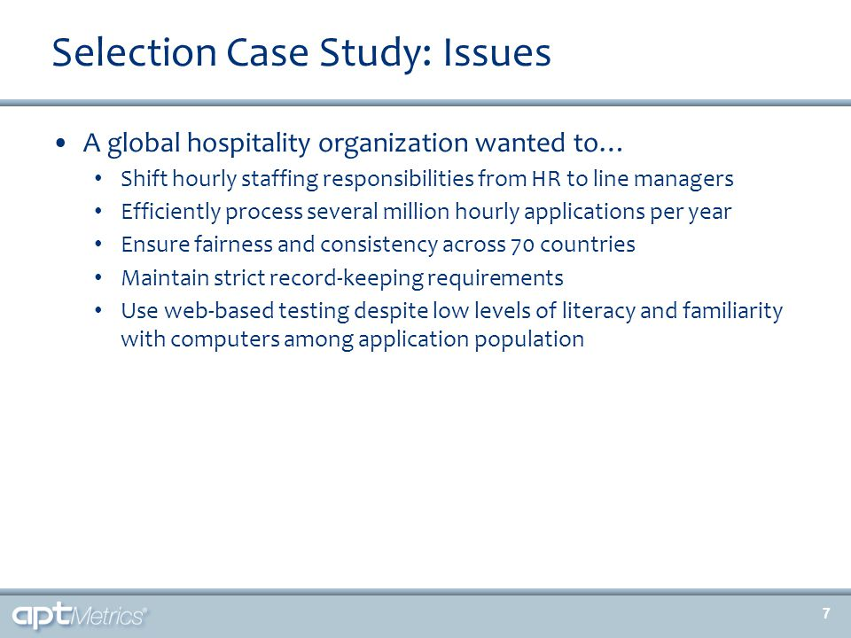 High Potential Identification Case Study: Solutions 28