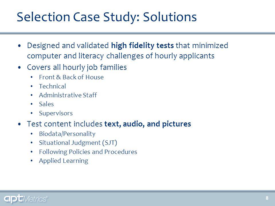 Development Case Study: Metrics (cont.) 19