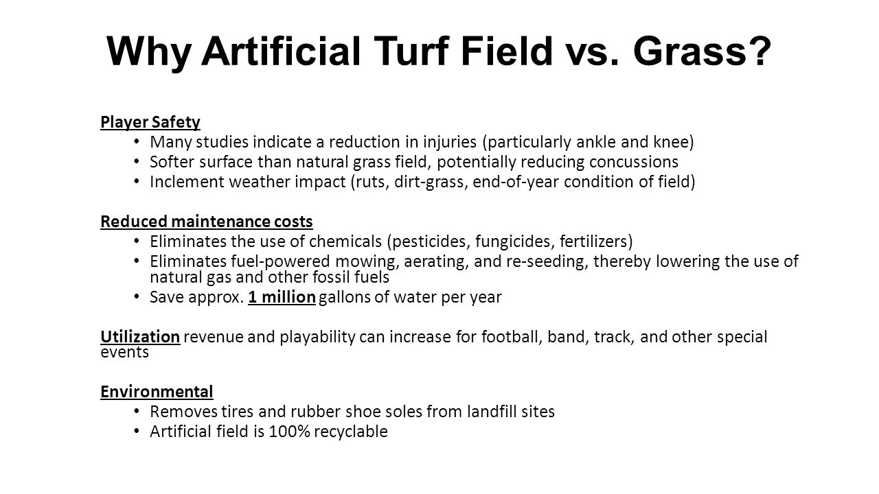Why Artificial Turf Field vs. Grass.