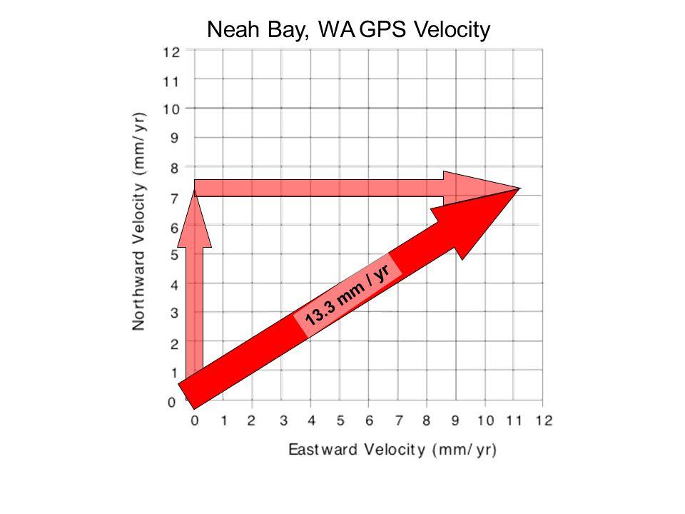 13.3 mm / yr Neah Bay, WA GPS Velocity