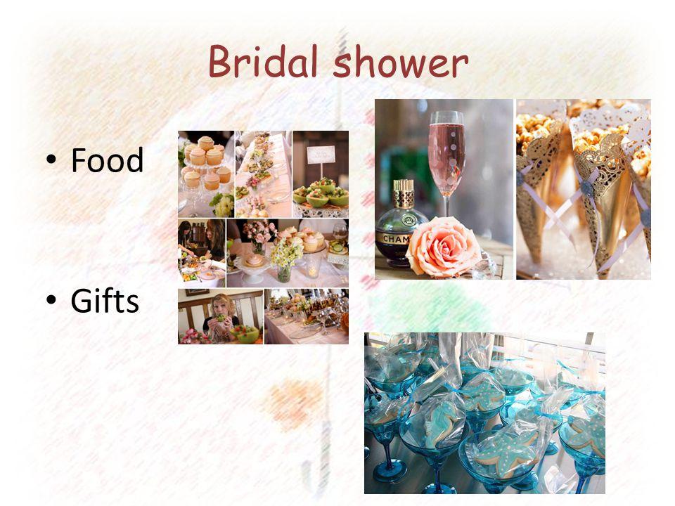 Bridal shower Food Gifts