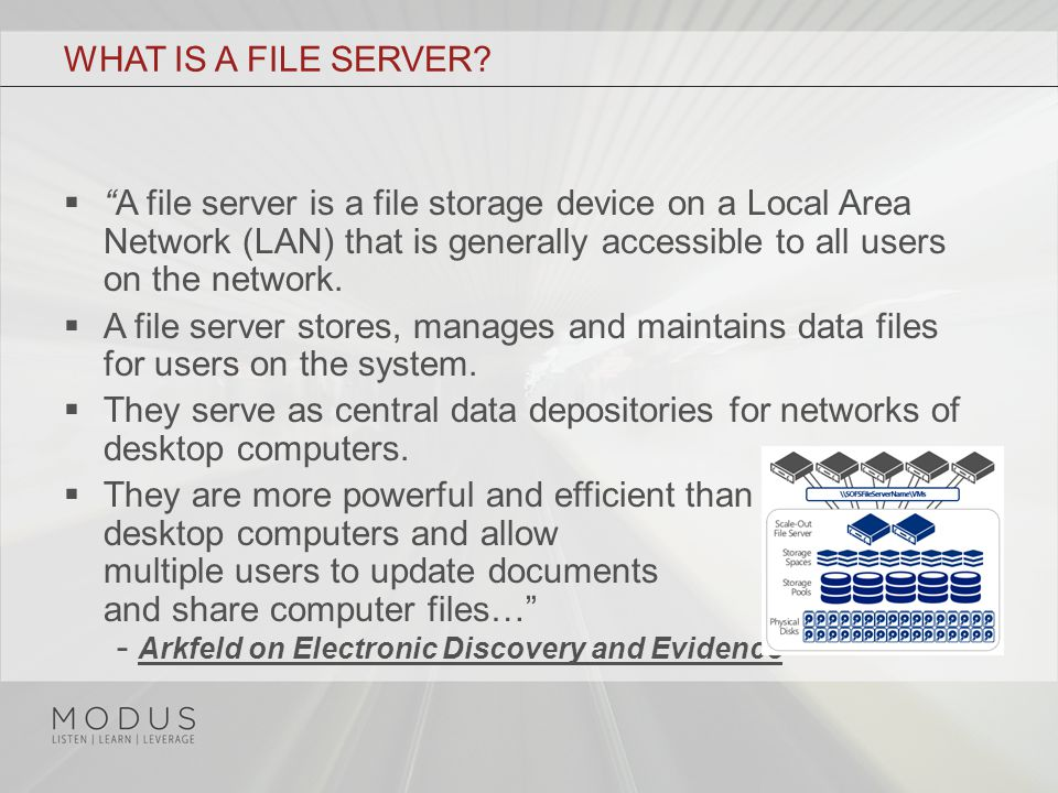 WHAT IS A FILE SERVER.