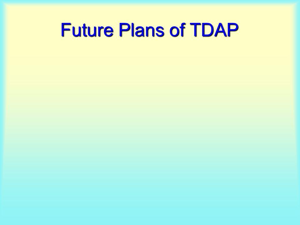 Future Plans of TDAP