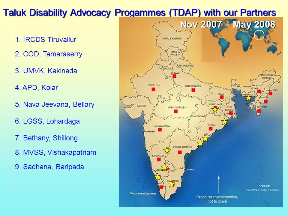 Taluk Disability Advocacy Progammes (TDAP) with our Partners 4.