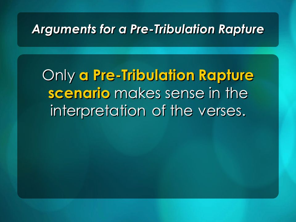 The Translation of Enoch (Genesis 5:22-24) Arguments for a Pre-Tribulation Rapture