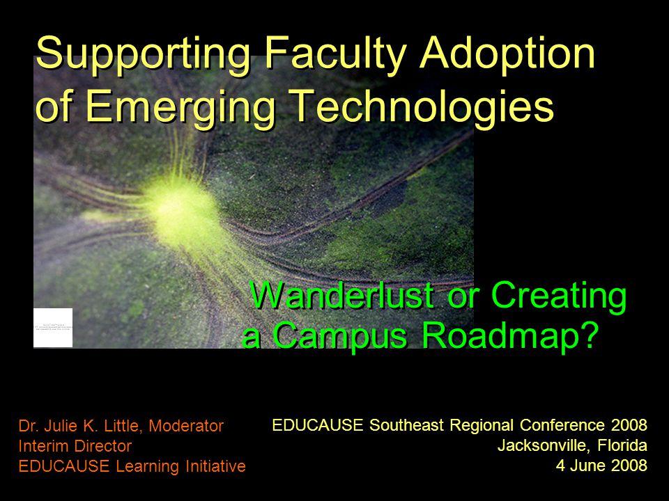 EDUCAUSE Southeast Regional Conference 2008 Jacksonville, Florida 4 June 2008 Dr.