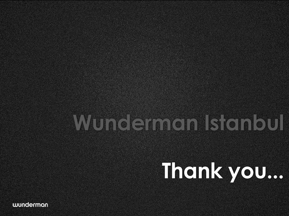 Wunderman Istanbul Thank you...