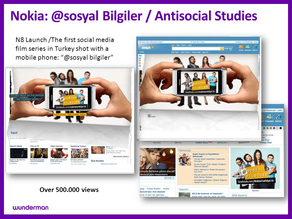 Nokia: @sosyal Bilgiler / Antisocial Studies N8 Launch /The first social media film series in Turkey shot with a mobile phone: @sosyal bilgiler Over 500.000 views