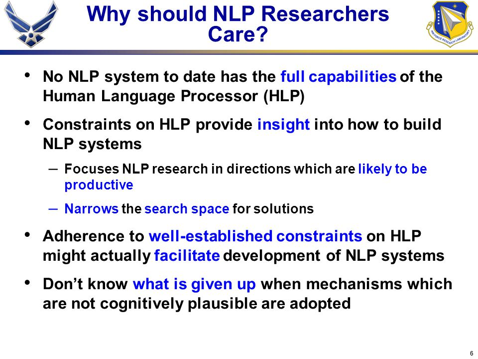 6 Why should NLP Researchers Care.