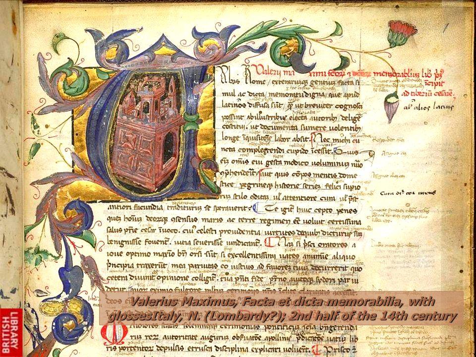 Valerius Maximus, Facta et dicta memorabilia, with glossesItaly, N.