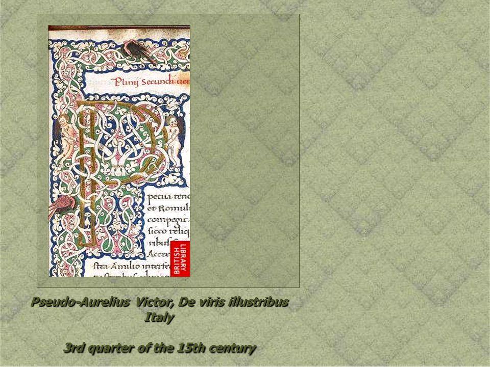 Pseudo-Aurelius Victor, De viris illustribus Italy 3rd quarter of the 15th century