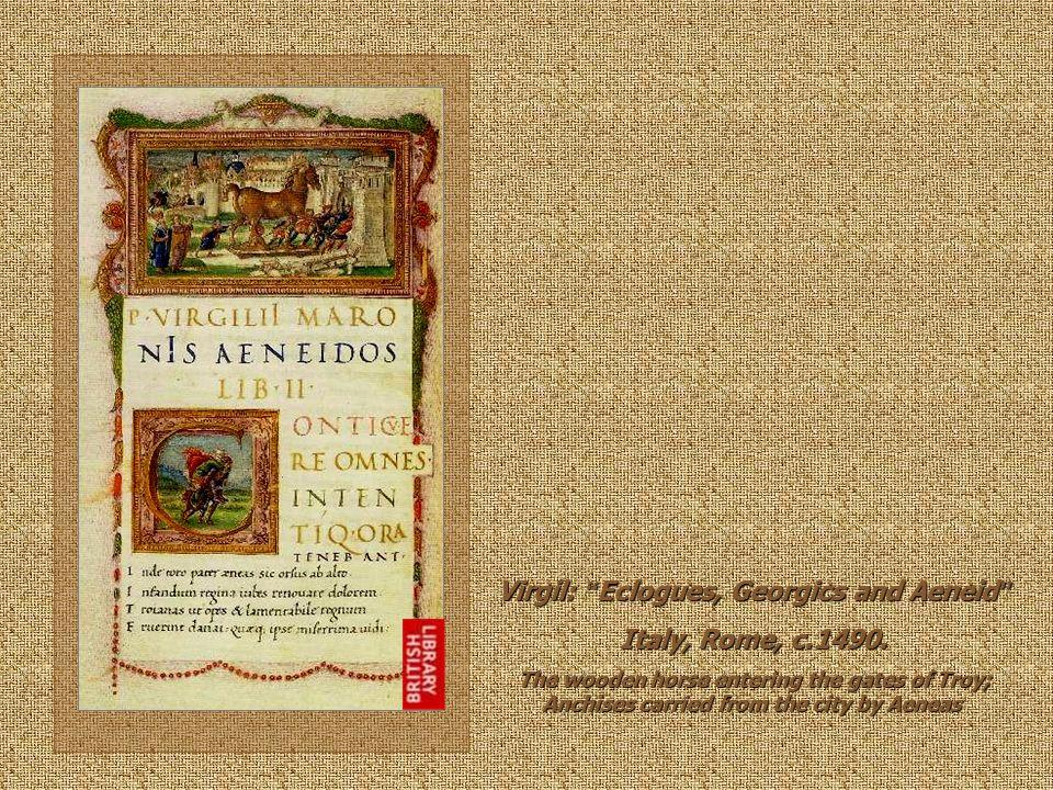 Virgil: Eclogues, Georgics and Aeneid Italy, Rome, c.1490.