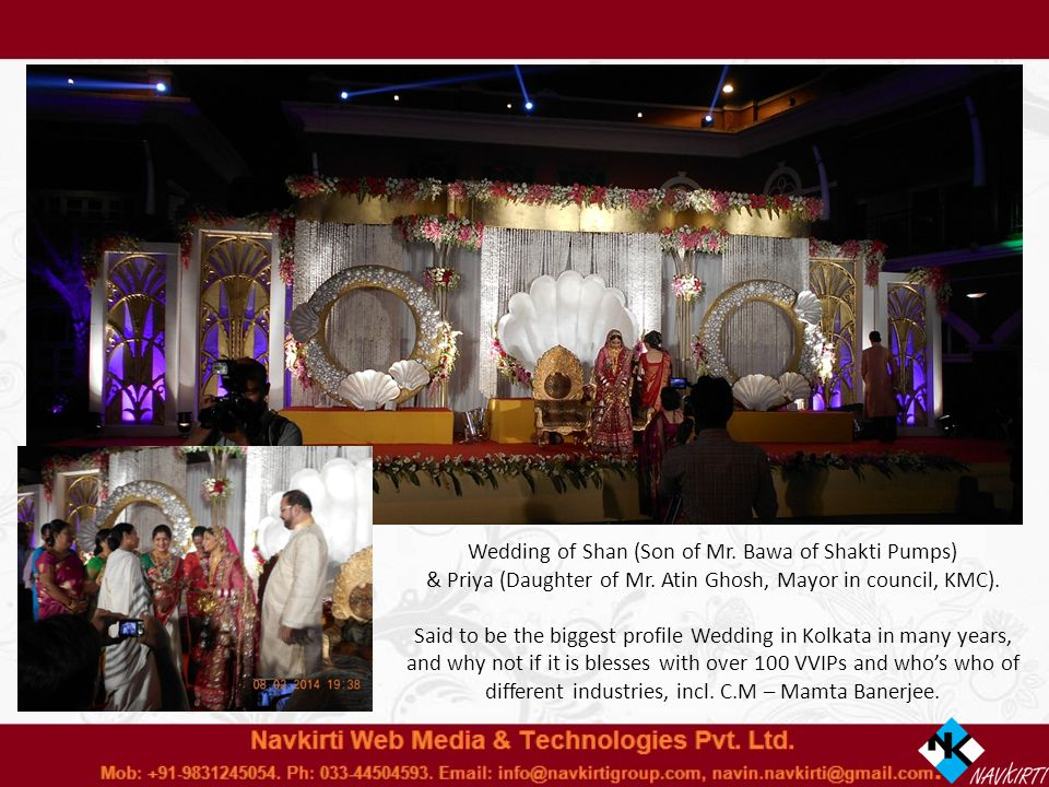 Wedding of Shan (Son of Mr. Bawa of Shakti Pumps) & Priya (Daughter of Mr.