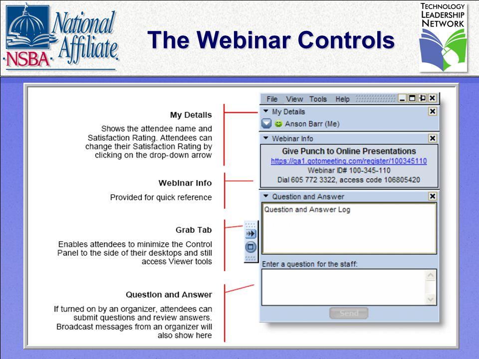 2 The Webinar Controls