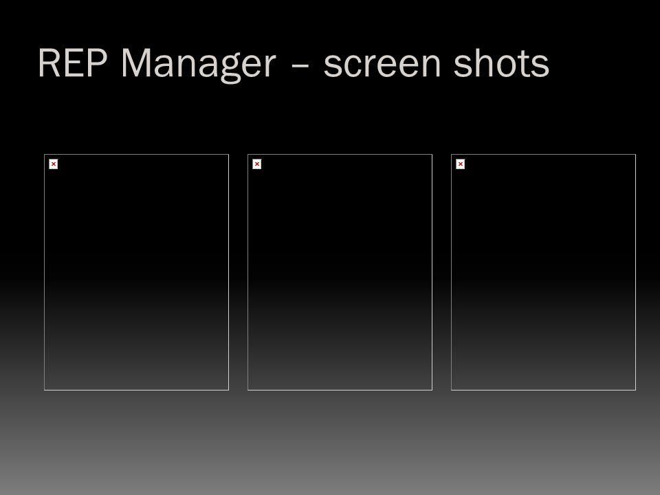 REP Manager – screen shots