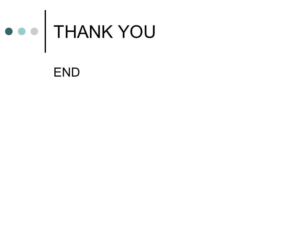 THANK YOU END