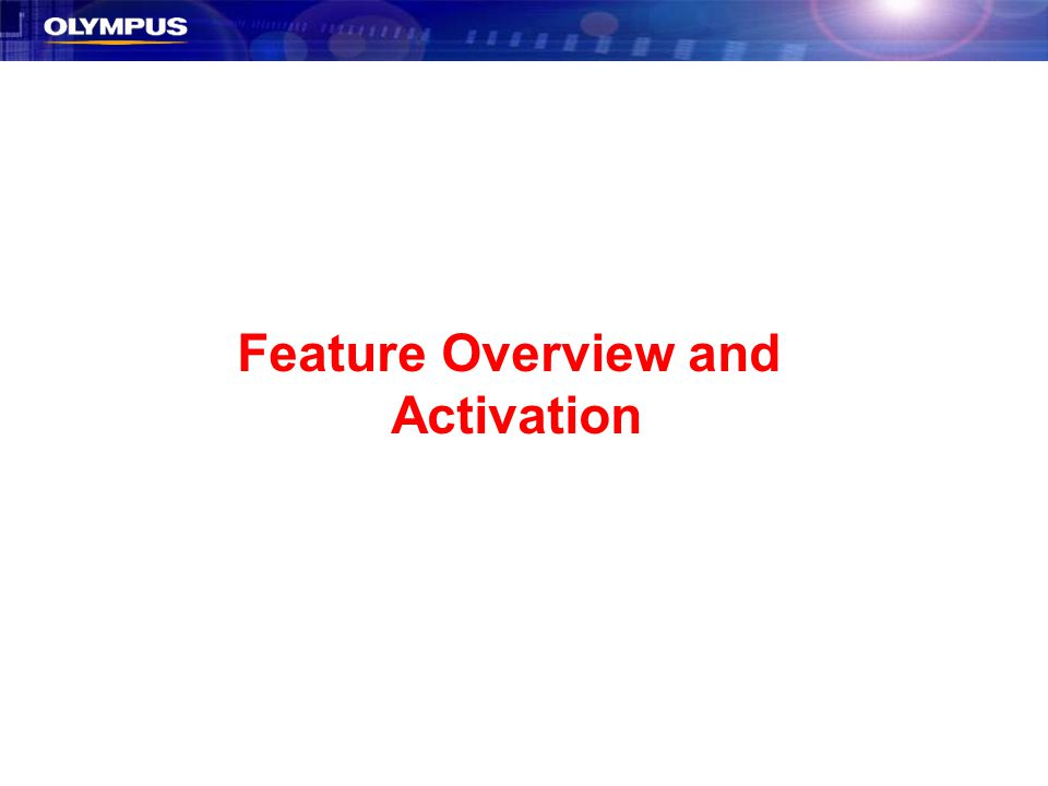 Feature Overview and Activation