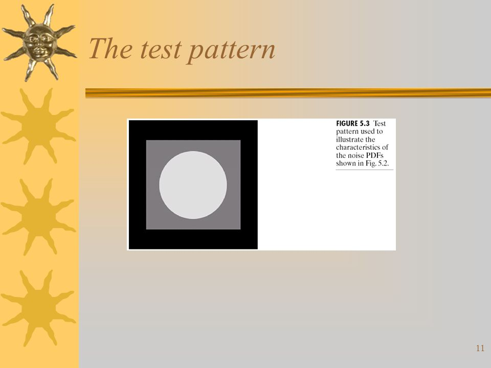 11 The test pattern