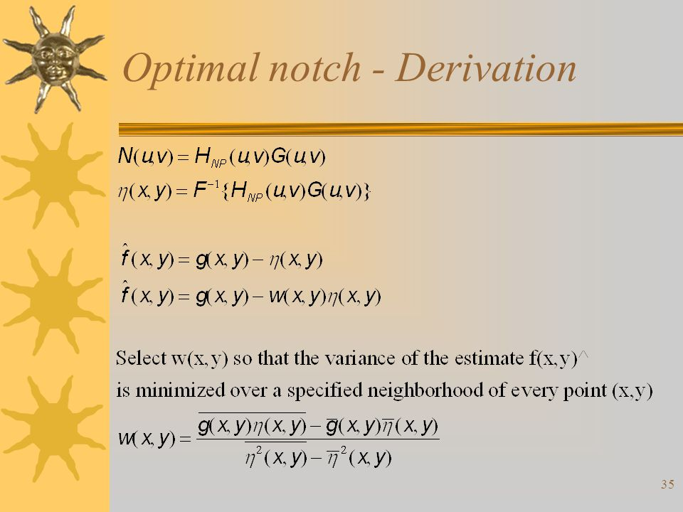 35 Optimal notch - Derivation