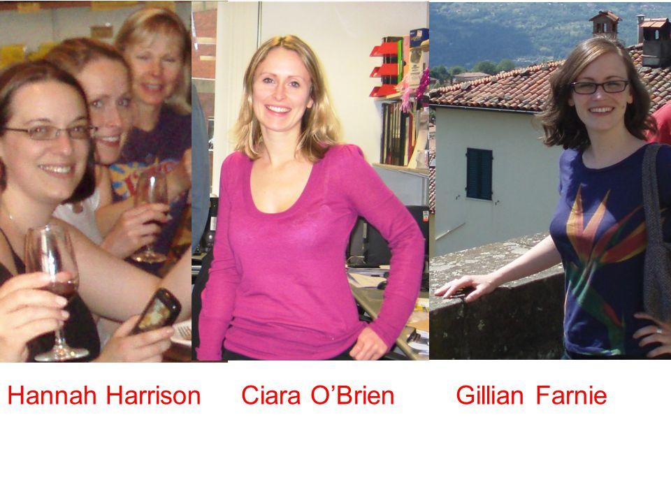 Hannah Harrison Ciara O'Brien Gillian Farnie