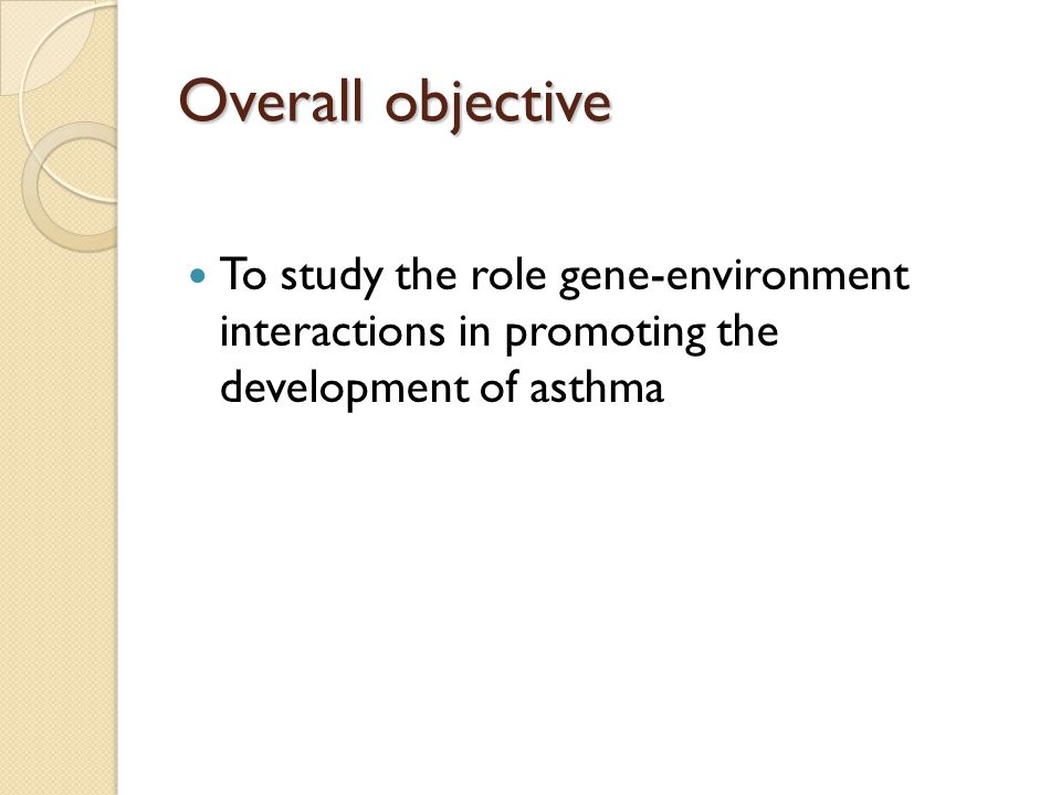 Asthma 20 million 10 million allergic asthma Increase in the prevalence 75% from 1980- 1994 Children 160% from 1980-1994