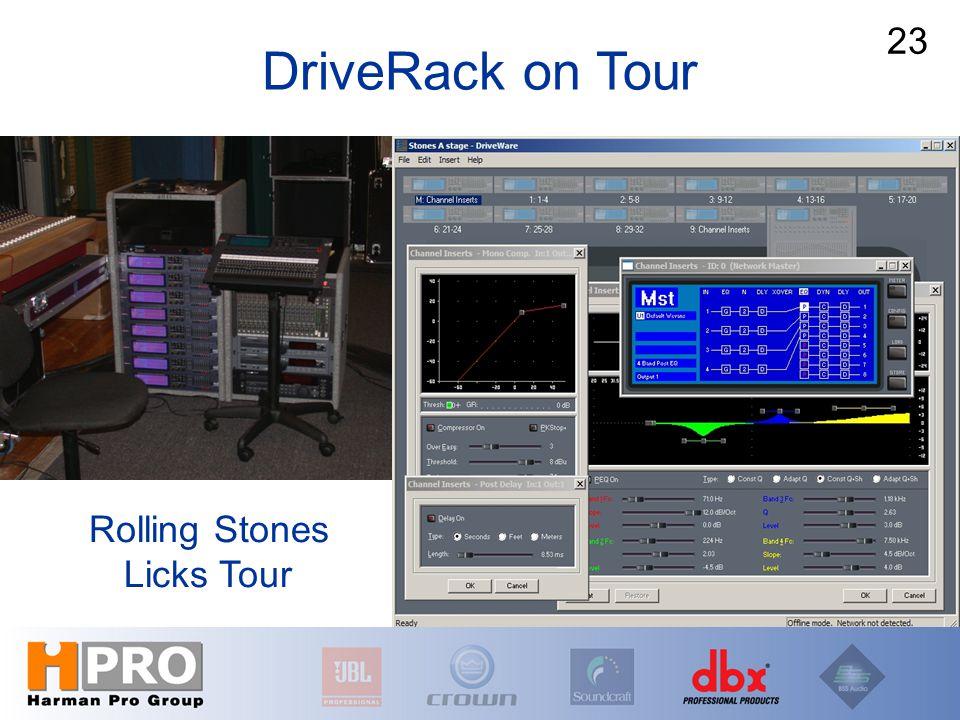 Rolling Stones Licks Tour 23 DriveRack on Tour