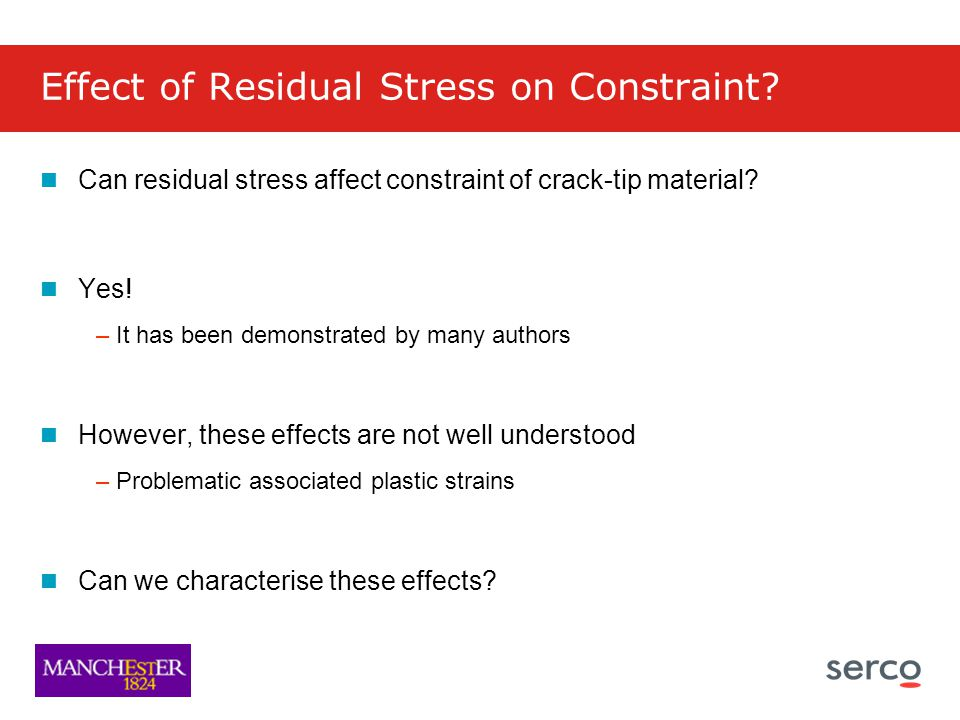 Effect of Residual Stress on Constraint.