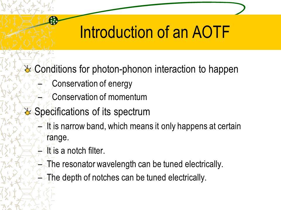 Introduction of an AOTF OSA LED RF Generator Stripped fiber PC