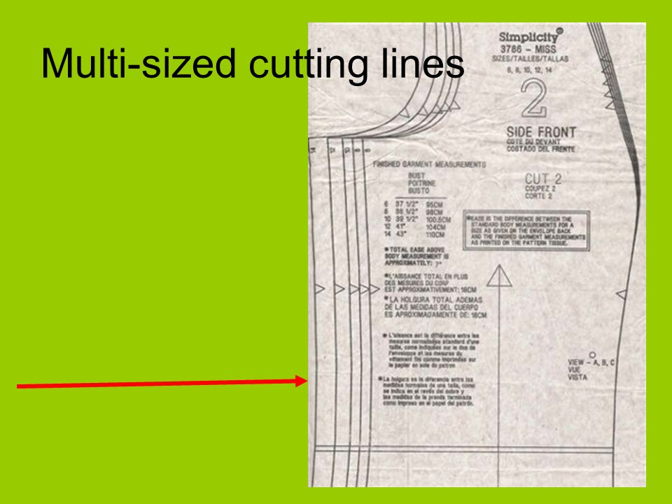 Multi-sized cutting lines