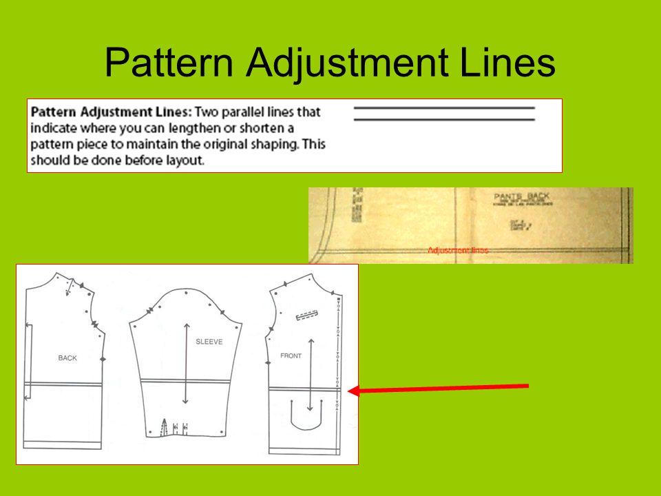 Pattern Adjustment Lines